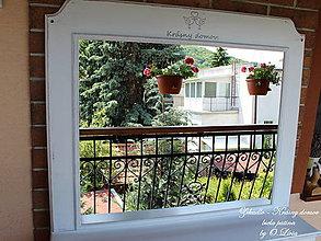 Zrkadlá - Zrkadlo Krásny domov - biela patina - 8251893_