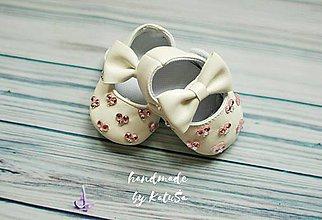 Topánočky - capačky srdce - 8250065_