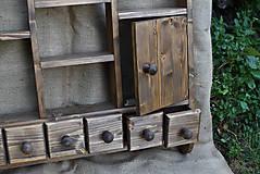 Nábytok - Drevená polica kuchynská s dvierkami (č.2) - 8250890_