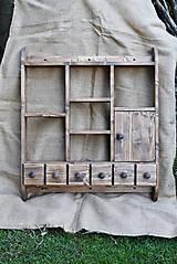 Nábytok - Drevená polica kuchynská s dvierkami (č.2) - 8250892_