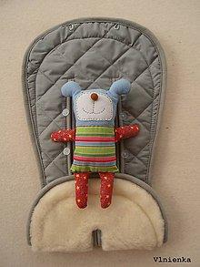 Textil - MERINO podložka do kočíka BUGABOO Bee s ozdobným prešitím ELEGANT grey - 8252629_
