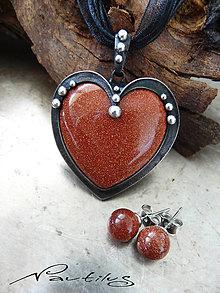 Sady šperkov - Sada šperkov so zlatým avanturínom - 8250603_