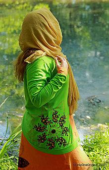 Mikiny - Dámska mikina šitá, batikovaná, maľovaná, etno PÁRVATÍ - 8249629_