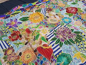 Šály - Srším pohodou- hodvábny maľovaný šál - 8252196_