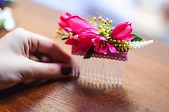 """Ozdoby do vlasov - Kvetinový hrebienok """" Svitanie """" - 8249819_"""