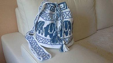 Iné tašky - Háčkovaný batoh - 8250722_