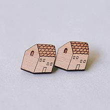 Náušnice - domčeky - napichovačky - 8252293_