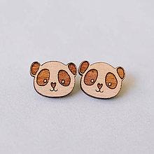 Náušnice - panda - napichovačky - 8252332_