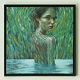 Obrazy - vodná víla, maľba - 8251590_