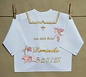 - košieľka na krst-vyšívaná  - 8252663_
