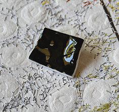 Odznaky/Brošne - brošňa Čierne vlny - 8250357_