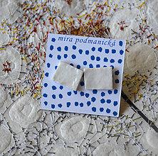 Náušnice - náušnice Biele - 8250371_