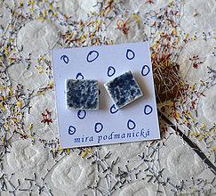 Náušnice - náušnice Modré - 8250384_