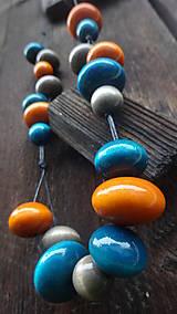 Náhrdelníky - Orange curacao - 8251520_