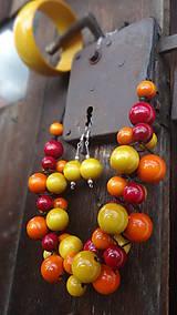 Sady šperkov - Brusnicovo-citrusový fresh sada 3v1 - 8251658_