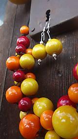 Sady šperkov - Brusnicovo-citrusový fresh sada 3v1 - 8251659_
