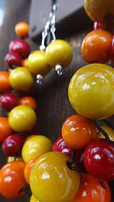 Sady šperkov - Brusnicovo-citrusový fresh sada 3v1 - 8251660_