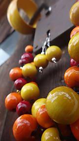 Sady šperkov - Brusnicovo-citrusový fresh sada 3v1 - 8251662_