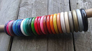 Náramky - Multicolor ploché náramky - 1 - dopredaj - 8251597_