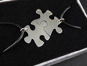 Náhrdelníky - Puzzle prívesky - na rozlomenie - 8249422_