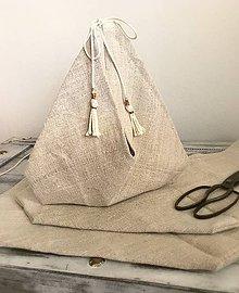 Iné tašky - Taštička z ľanového plátna 35x35 - 8249961_
