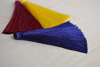Polotovary - Strapec hodvábny námornícka modrá 65mm, 0.70€/ks - 8249883_