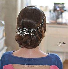 Iné šperky - Svadobná girlanda do účesu nevesty - 8252211_