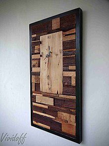 Hodiny - drevený obraz s hodinami - 8255855_