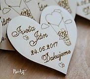 Magnetky pre svadobných hostí Balónik