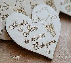 Darčeky pre svadobčanov - Magnetky pre svadobných hostí Balónik - 8253428_