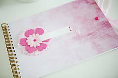Papiernictvo - Scrapbook album / kniha hostí Ružová - 8254965_