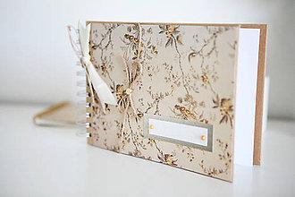 Papiernictvo - Scrapbook album / kniha hostí NATUR - 8254920_