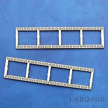 Polotovary - Výrez Retro - Filmový pás - malý set, 2ks - 8254744_