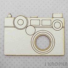 Polotovary - Výrez Cestovanie - Fotoaparát, veľký - 8256076_