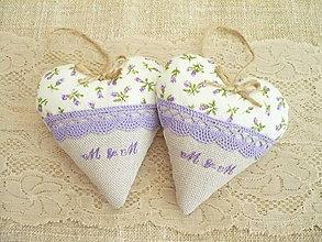 Darčeky pre svadobčanov - Svadobné srdiečka levanduľovo -fialové - 8255730_