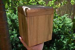 Nádoby - Urna z orechového dreva - 8254008_
