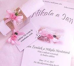 Darčeky pre svadobčanov - Svadobné oznámenie v ruličke \