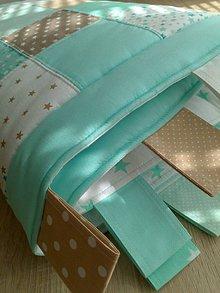 Úžitkový textil - Zástena nad posteľ *mint-mentol* - 8253656_