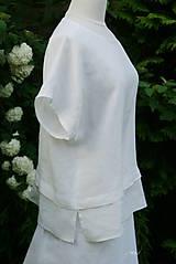 Tuniky - Biela blúzka z francúzskeho ľanu 4 - 8253787_