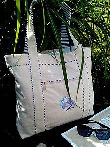 Veľké tašky - Plážová taška s výšivkou - 8254673_