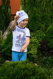 Detské oblečenie - Detské tričko s ľudovým motívom Čičmanský kohútik - 8253923_