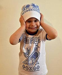 Detské čiapky - Čiapočka s ľudovým motívom Kohútik Čičmianský - 8254203_