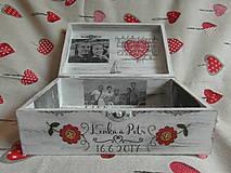 Darčeky pre svadobčanov - krabica pre novomanželov s fotkami - 8255609_