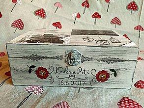 Krabičky - krabička pre novomanželov s fotkami - 8253504_