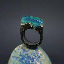 Prstene - Drevený prsteň: Jas z hlbín - 8255722_
