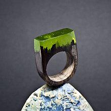 Prstene - Drevený prsteň: Pieseň pre vodníka - 8256057_