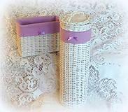 Košíky - Košík - zásobník  fialový super 2-ka - 8254985_