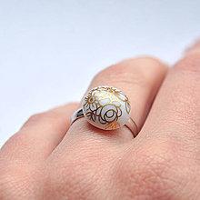 Prstene - Prsteň zlatý kvet / RING RING - gold - 8253143_