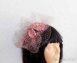 Ozdoby do vlasov - Fascinátor s ružami - 8254319_