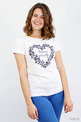 Tričká - Dámske tričko biele ĽÚBENÁ NAVŽDY - 8254749_